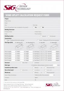 SIG D&T Wind Calc Request Form
