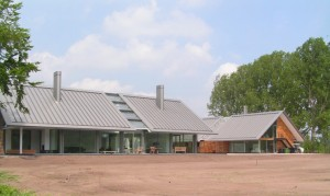 Beautiful NedZink Zinc Roofing used as a Feature