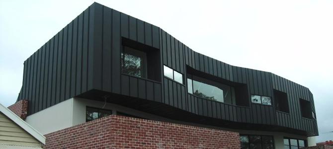 Penthouse clad in NedZink NOIR Zinc Cladding