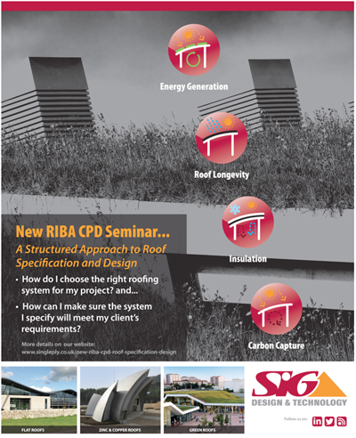 Poster - New CPD Roofing Design and Specification RIBA