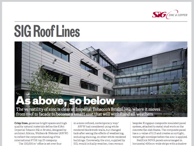 SIG Roof Lines: The RIBA Journal November 2014