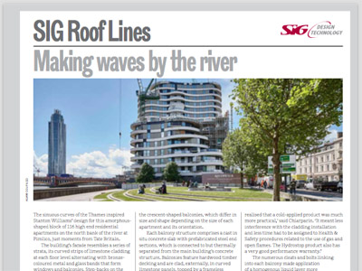 SIG Roof Lines: The RIBA Journal August 2015