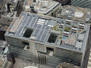 5 Broadgate - the completed roof
