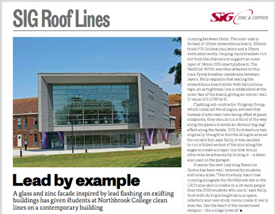 SIG Roof Lines: The RIBA Journal March 2016