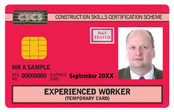 Sample Red CSCS Card