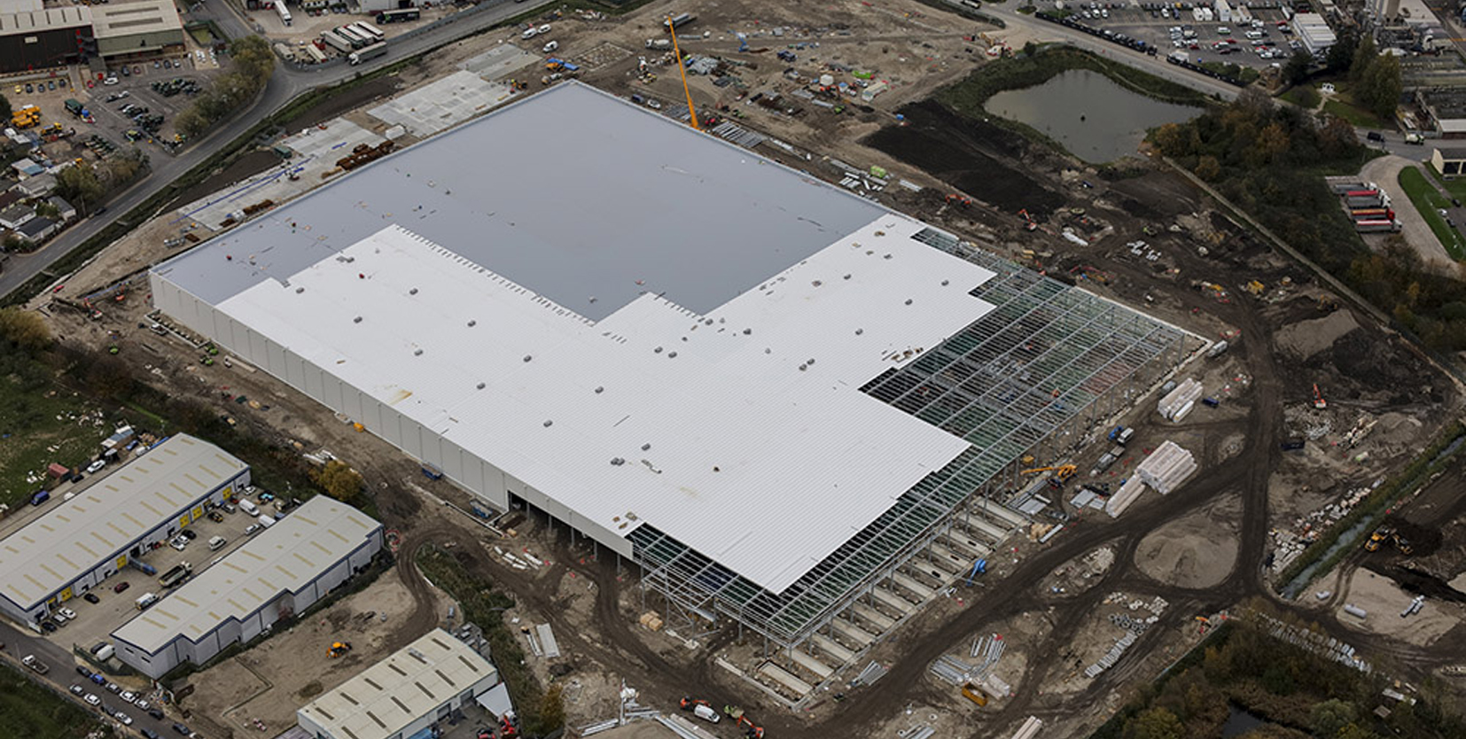 Fast Track Roofing: Ocado Fulfillment Centre Kent