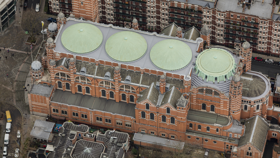 Westminster Cathedral Roof - Aerial View