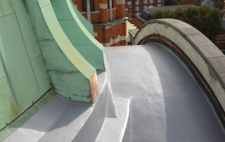 replacing a cathedral roof - mastic asphalt at Westminster Cathedral