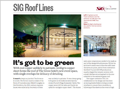 SIG Roof Lines: The RIBA Journal October 2016