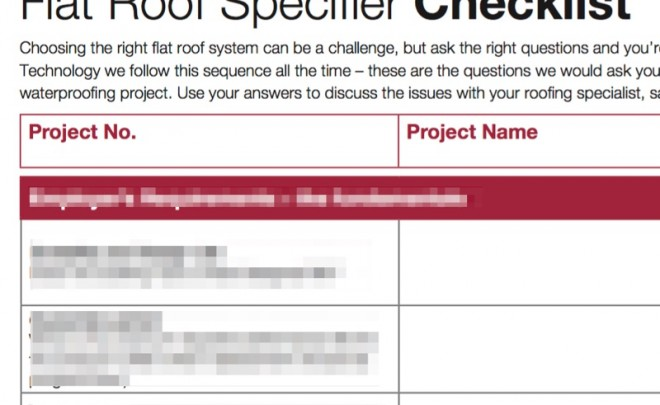 Flat Roof Specifier Checklist to be Launched at RIBA Journal Seminar