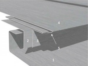 Standing Seam ZInc Roof Step Joint Diagram