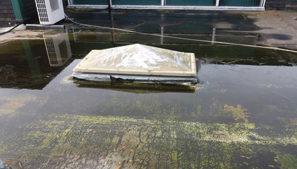 Flat Roof Drainage: avoid ponding water due to poor falls