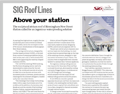 SIG Roof Lines: The RIBA Journal April 2017