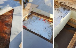Failed Flat Roof Problems Damp Deck and Inspection