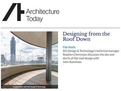Architecture Today and SIG Design and Technology