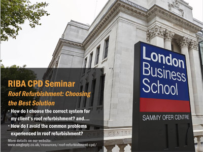 New CPD Seminar Launched: Roof Refurbishment