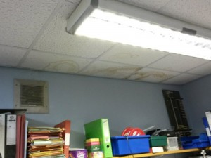 school risk assessment hazards leaking roof