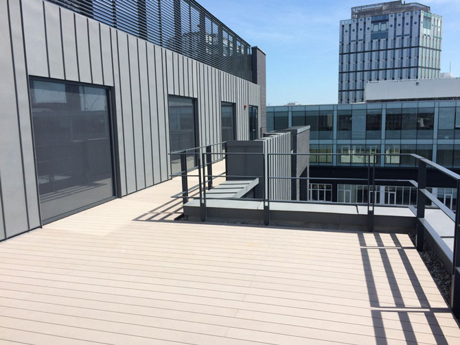 Blue Roof Best Practice - Amenity Terrace Blue Roof at 160 Old Street London by Orms Architects