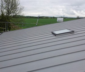 low pitch zinc roof this one is 5 degrees