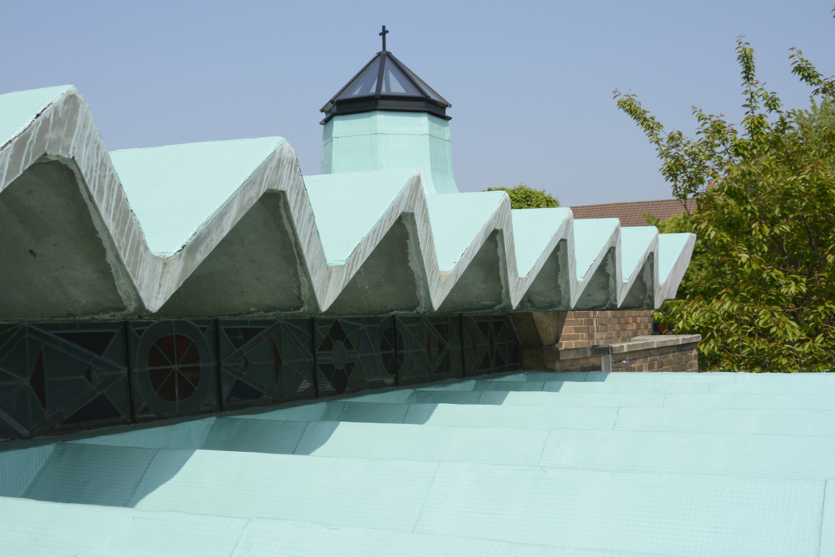 Our Lady Help of Christians Church, Birmingham. liquid roofing