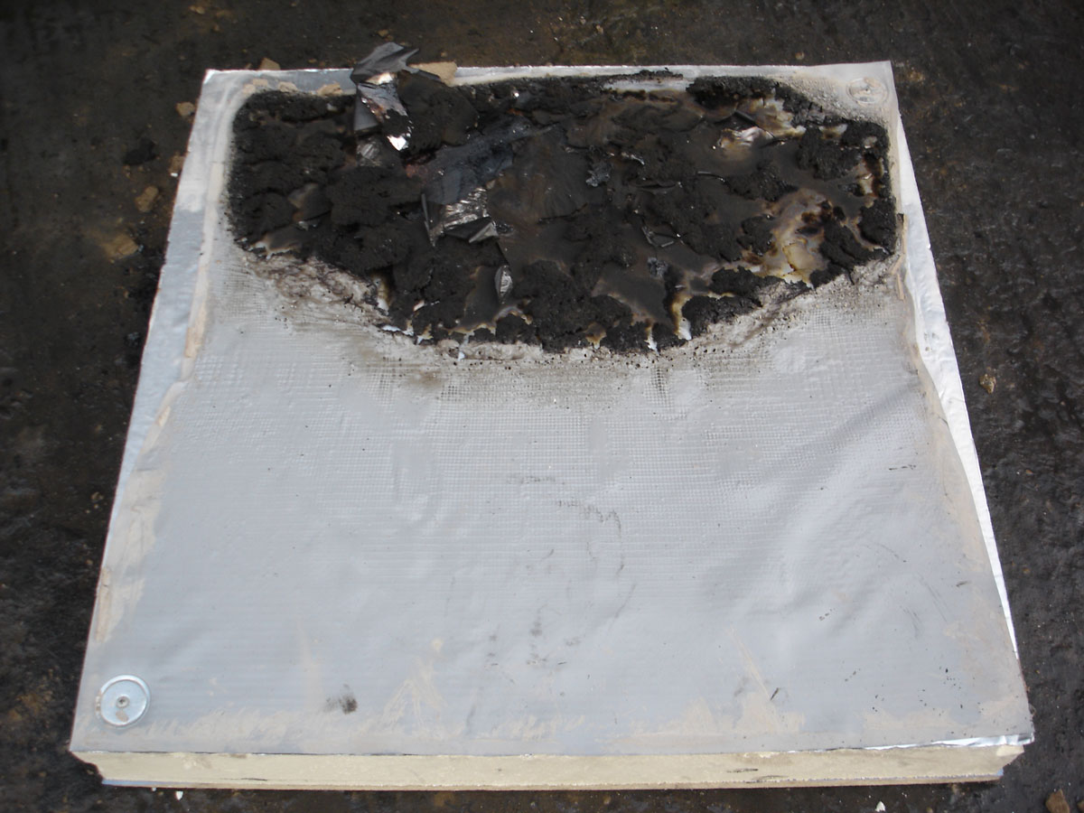 Spread of Flame Test Result - Flat Roof Fire Performance