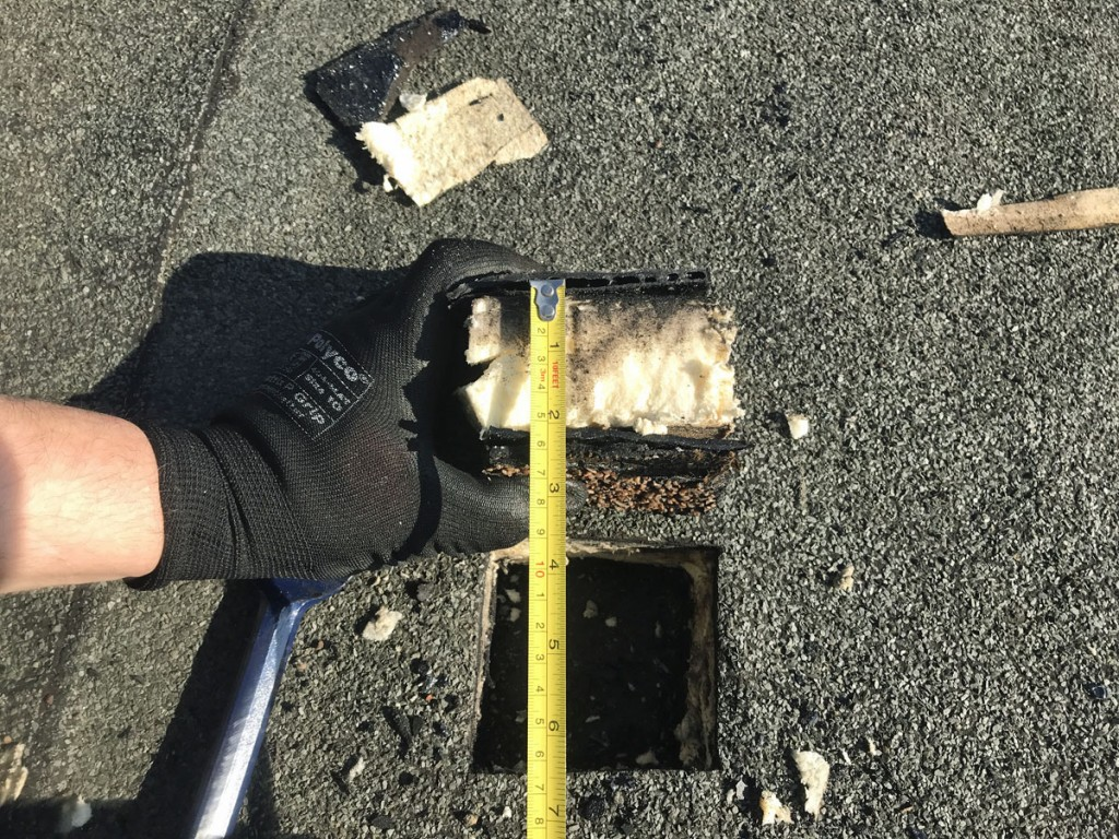 Flat Roof Survey Core Sample