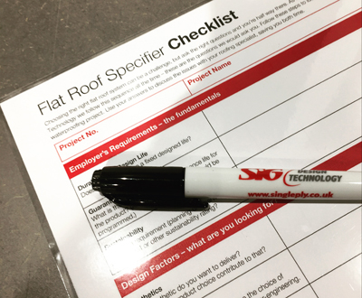 Flat Roof Checklist helps architects ask the right questions