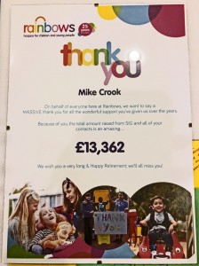 Fundraising Certificate Mike Crook