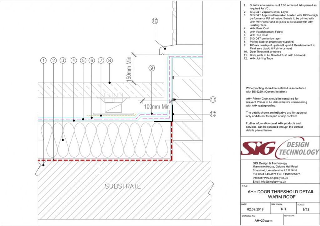 Door Threshold to Warm Roof - Liquid Waterproofing on Refurbishment Projects