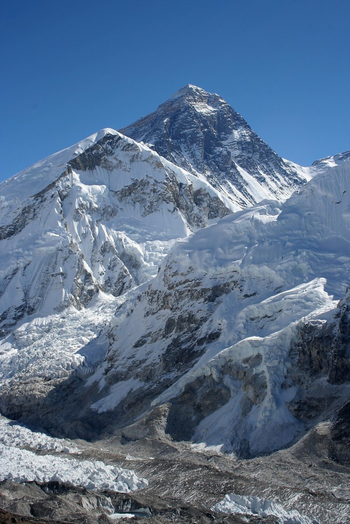 Mount Everest as viewed from Kala Patthar (Wikimedia Commons)]