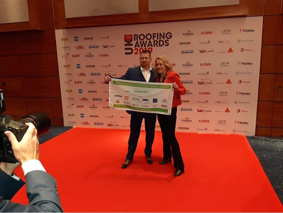 Ian Dryden Sarah Beeney at NFRC Awards