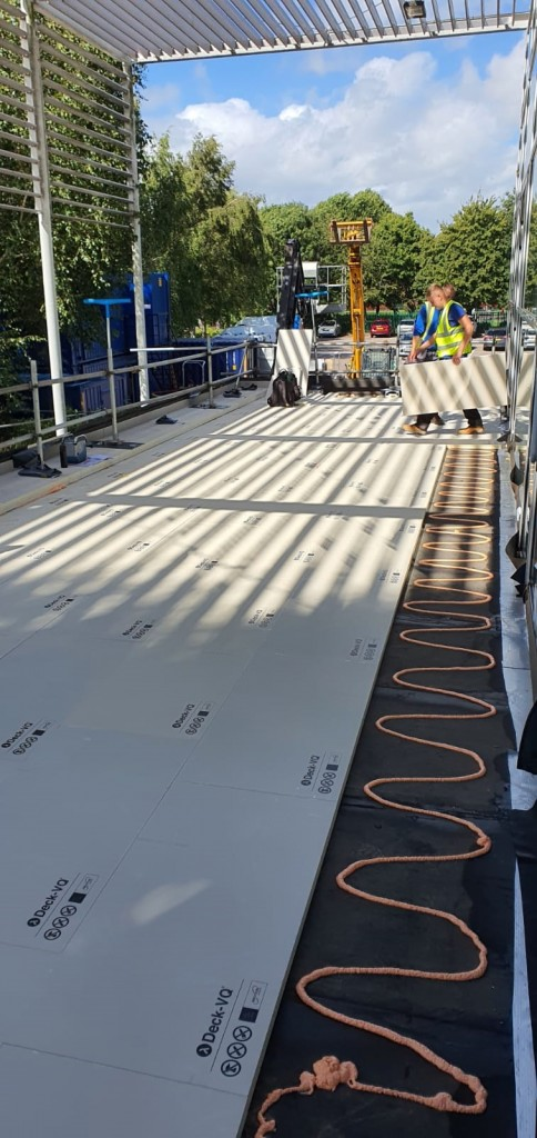 Vacuum Insulated Panel Installation - With Protection