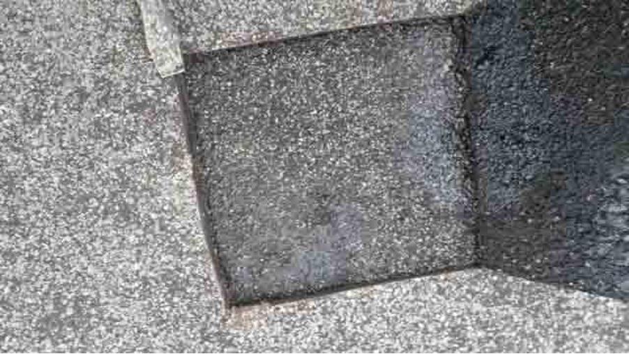 Delaminated Flat Roof membrane leak