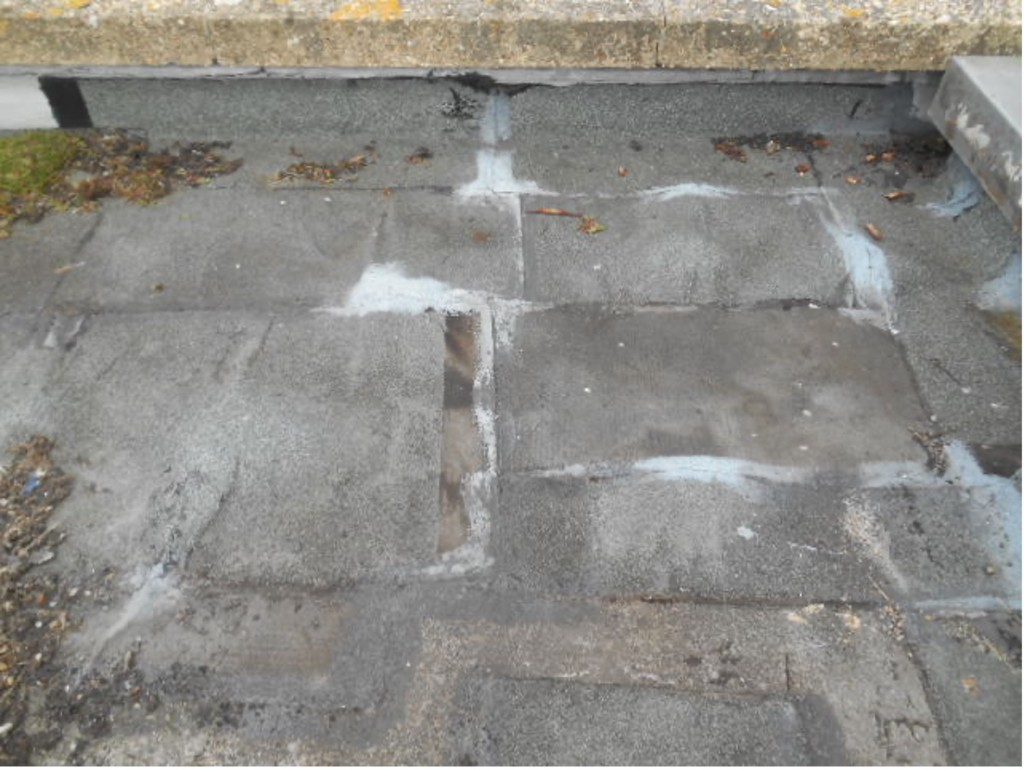 Repaired Felt Roof - Why Flat Roofs Leak